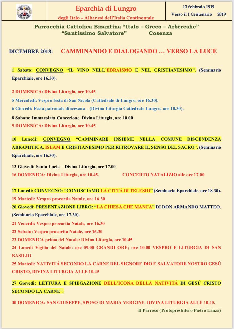 Calendario Ortodosso Rumeno 2020.Associazione Culturale Villa Badessa 2018